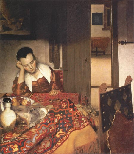 Johannes Vermeer: A Girl Asleep, around 1657